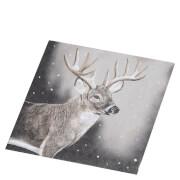 Bark & Blossom Deer Paper Napkin - Multi (20 Pack)