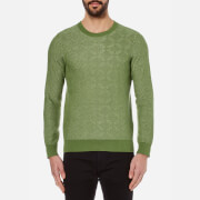 GANT Rugger Men's Textured Crew Neck Knitted Jumper - Chlorophyl Green