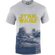 Star Wars Rogue One Men's Blue Death Trooper Print T-Shirt - Grey