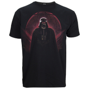 Star Wars: Rogue One Männer Darth Vadar Rot Globe T-Shirt - Schwarz
