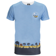 Star Wars: Rogue One Männer Death Star Palm Tree T-Shirt - Blue