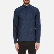 KENZO Men's Charms Tonal Jacquard Shirt - Midnight