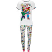 Marvel Women's Marvel Comic Printed Pyjamas - Pink