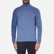 Polo Ralph Lauren Men's Quarter Zip Sweatshirt - Academy Blue Heather