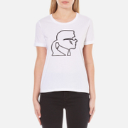 Karl Lagerfeld Women's Karl Lightning Bolt T-Shirt - White