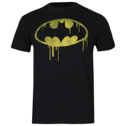 DC Comics Batman Dripping Logo Jongens T-Shirt - Zwart