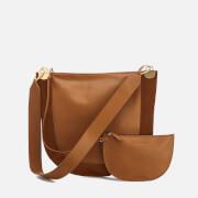 Diane von Furstenberg Women's Moon Leather/Suede Cross Body Bag - Whiskey
