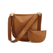 Diane von Furstenberg Women's Moon Leather/Suede Cross Body Bag - Whiskey