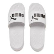 Puma Men's Popcat Slide Sandals - White/Black