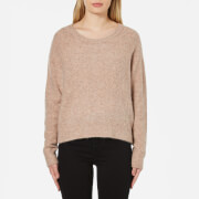 Samsoe & Samsoe Women's Nor O-Neck Short Jumper - Rosebuck Melange