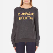 Wildfox Women's Champagne Superstar Baggy Beach Jumper - Clean Black
