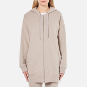 T by Alexander Wang Women's Soft French Terry Long Zip Up Hoody - Beige