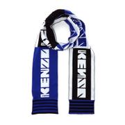 KENZO Cotton Sporty Football Scarf - Blue/Black