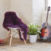 Royal Dream Large Sheepskin Rug - Italian Plum