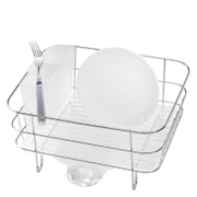 simplehuman Compact Brushed Steel Wire Dish Rack