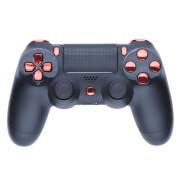 Playstation 4 Custom Controller - Matte Black & Chrome Red