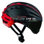 Casco Speedairo RS Helmet with Vautron Visor - Black/Red