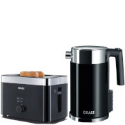 Graef TO62.UK 2 Slice Compact Toaster and WK702.EU 1.5L Kettle Bundle - Black