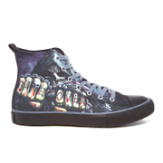 Spiral Men's Game Over High Top Lace Up Sneakers - Black