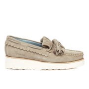 Grenson Women's Nikita Suede Tassle Loafers - Earth