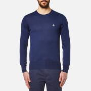 Vivienne Westwood MAN Men's Crew Neck Classic Knitted Jumper - Blue