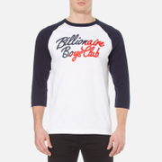 Billionaire Boys Club Men's Script Logo Raglan T-Shirt - White