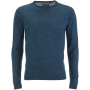 Brave Soul Men's Parse Supersoft Crew Neck Jumper - Denim Marl