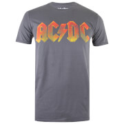 AC/DC Gradient Logo Heren T-Shirt - Charcoal