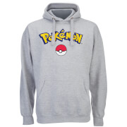 Pokemon Men's Logo Hoody - Grey Marl