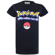 Pokemon Herren Gotta Catch Em All Logo T-Shirt - Schwarz