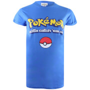 Pokemon Herren Gotta Catch Em All Logo T-Shirt - Royal Blau