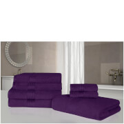 Highams 100% Egyptian Cotton 7 Piece Towel Bale - Purple