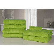 Highams 100% Egyptian Cotton 7 Piece Towel Bale - Lime Green