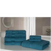 Highams 100% Egyptian Cotton 7 Piece Towel Bale - Blue