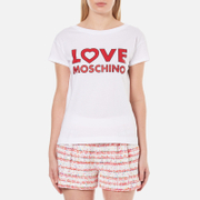Love Moschino Women's Love Logo T-Shirt - Optical White