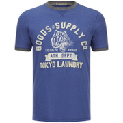 Tokyo Laundry Men's Tiger Lake T-Shirt - Cornflower Blue Marl
