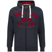 Tokyo Laundry Men's Mantua Bay Zip Through Hoody - Mood Indigo Marl