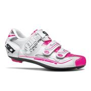 Sidi Women's Genius 7 Road Shoes - White/White/Pink Fluo
