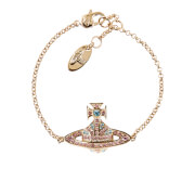 Vivienne Westwood Women's Jack Bas Relief Bracelet - Aquamarine/Light Rose