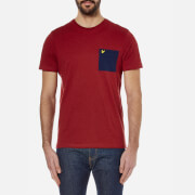 Lyle & Scott Men's Ottoman Stitch Pocket T-Shirt - Red Marl