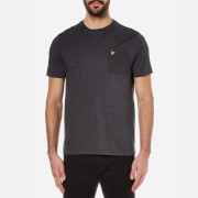 Lyle & Scott Men's Ottoman Stitch Pocket T-Shirt - Charcoal Marl