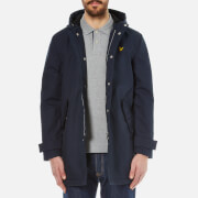 Lyle & Scott Men's Zip Front Hooded Mac - Navy Jacket