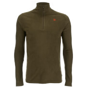 Fjallraven Men's Pine Half Zip Micro Fleece - Dark Olive