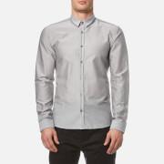 HUGO Men's Ero3 Long Sleeve Shirt - Open Grey