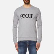 HUGO Men's Dicago Logo Sweatshirt - Open Grey