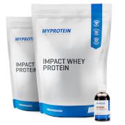 2xImpact Whey Protein + Flavdrops Bundle