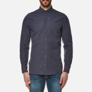 BOSS Orange Men's Cattitude Plain Shirt - Dark Blue