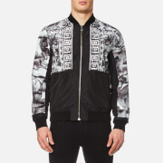 Versace Collection Men's Shoulder Print Bomber Jacket - Black