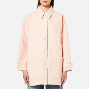 MM6 Maison Margiela Women's Oversized Denim Popper Back Detail Jacket - Ballerina