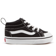 Vans Toddlers' Racer Mid Canvas Trainers - Black/True White
